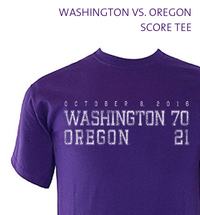 Washington vs. Oregon Score Tee