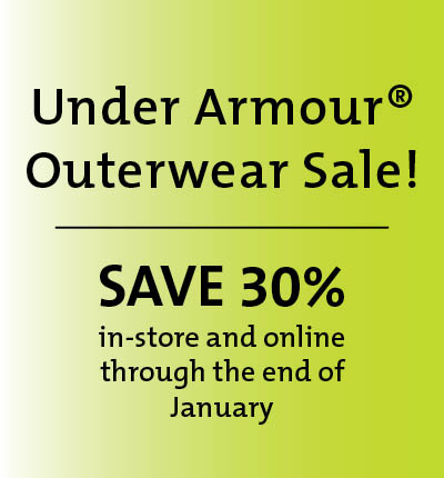 Under Armour(R) Outerwear Sale! Save 30% in-store and online through the end of January