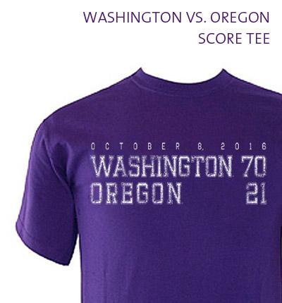 Washington vs. Oregon Score Tee